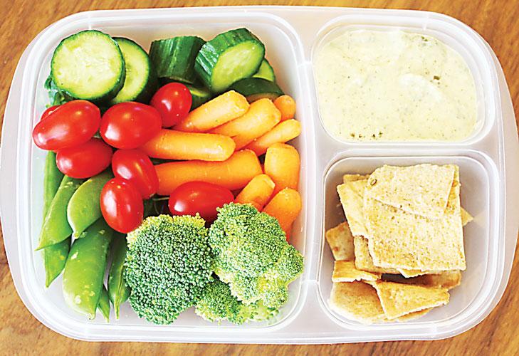 Enjoy vitamin packed snacks.