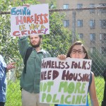 Protestors called for viable housing options.