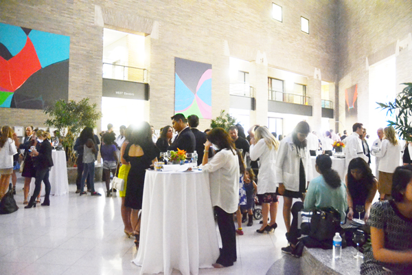The reception was held at the Guggenheim Pavilion Atrium.