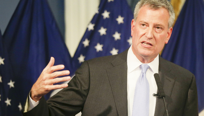 """""""We look forward to partnering with the men and women of TWU Local 100,"""" said Mayor de Blasio."""