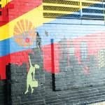 The Harlem Sunrise mural at East 125th Street.