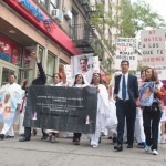 The protestors were joined by Councilmember Ydanis Rodriguez.
