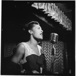 Billie Holiday will appear again. Portrait of Billie Holiday, Downbeat, New York, N.Y., ca. Feb. 1947 Photo: William P. Gottlieb