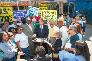 """""""We can make a real difference,"""" said Assemblymember Robert Rodríguez (center)."""