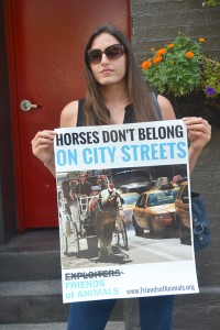 """Horses are treated like machines,"" charged Edita Birnkrant."