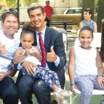 WHTA founder Leo Reynoso with Councilmember Ydanis Rodríguez and family.