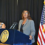 """""""We need to secure fair wages for workers in every sector,"""" said Public Advocate Letitia James."""