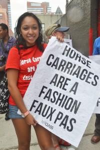"""Horses should be treated better,"" said Taina López."
