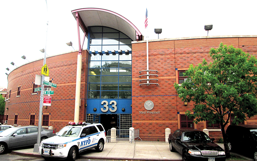 This uptown precinct is on Amsterdam Avenue.