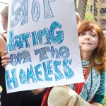 """""""The mayor and the police are criminalizing the homeless,"""" said Maurine Silverman."""