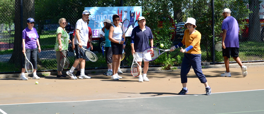 Tennis is a healthy activity for people of all ages. Photo by Sadichchha Adhikari