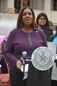 """We need to empower all parents,"" said Public Advocate Letitia ""Tish"" James."
