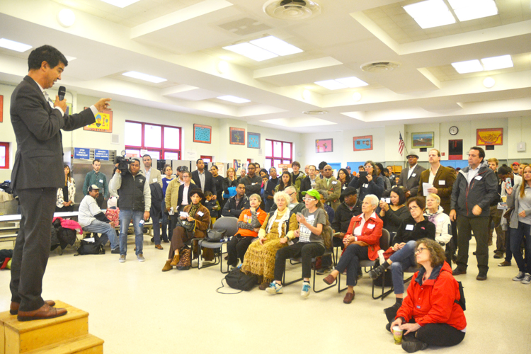 The zoning meeting was held at P.S. 5 Ellen Lurie.