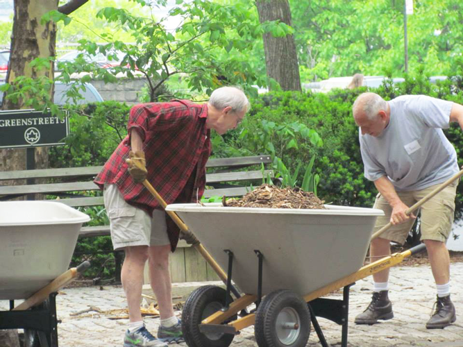 Volunteers work year-round in maintaining the park.