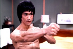 Bruce Lee was an early inspiration.