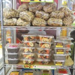 Nuts, dried fruits and grains are found at the store's entrance.