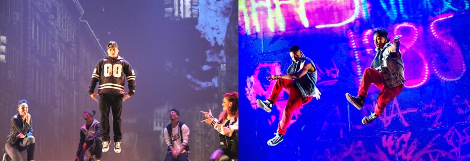 The production has 11 hip hop dancers.