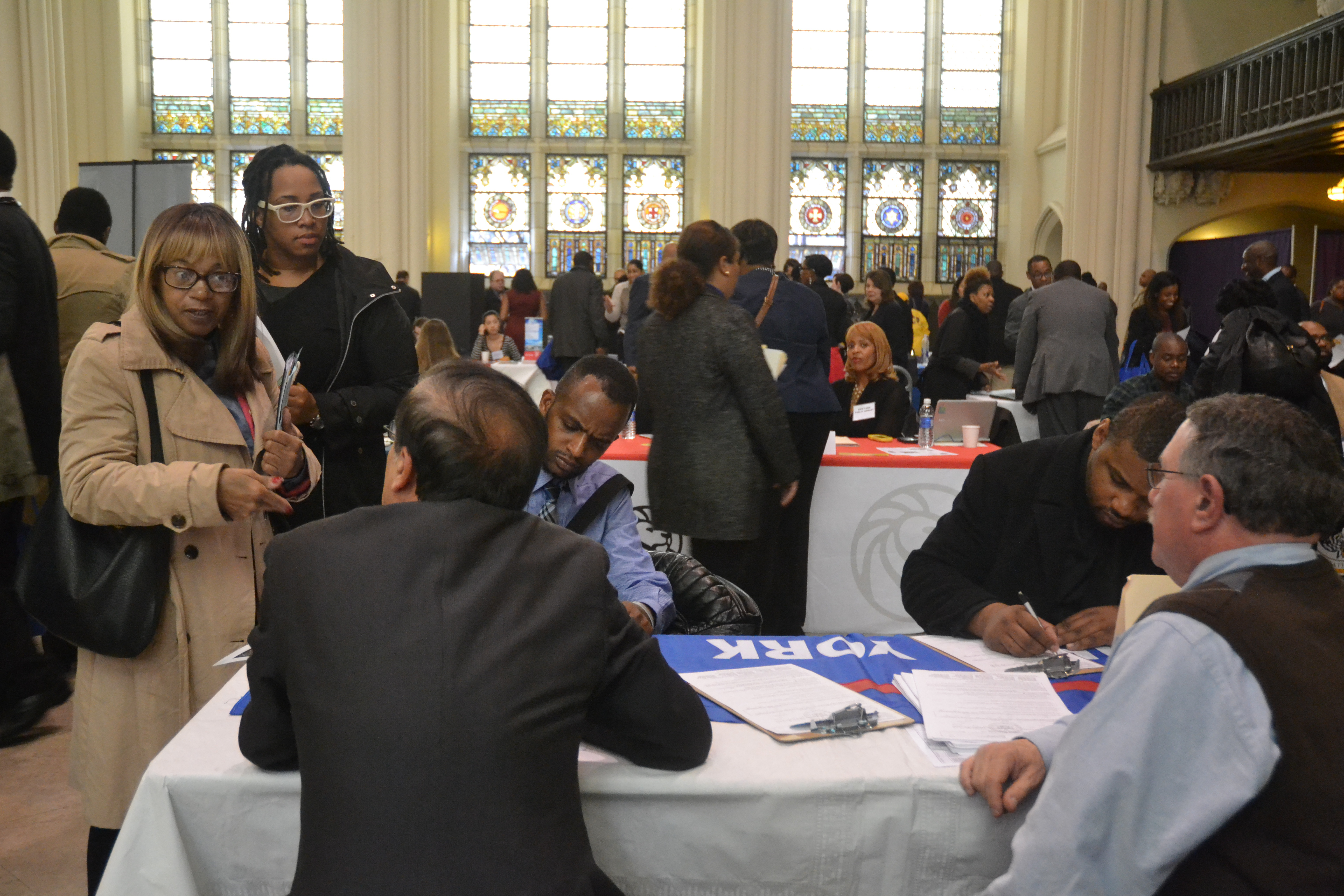 Hundreds attended the job fair.