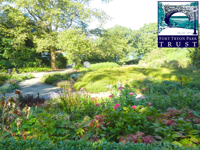 Tour the gardens at Fort Tryon Park.
