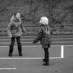 Souad plays with classmates at school.