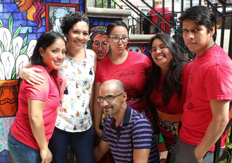 Pulitzer Prize-winning author Junot Diaz (bottom center) paid visits.