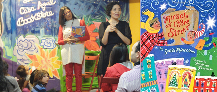 """""""This store being here gives people that understanding [about books],"""" said author Sonia Manzano (left)."""