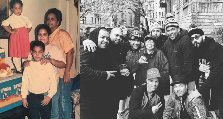 Morales (far right) was raised in Inwood.