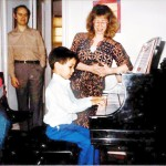 The artist, as a young man, at a recital for his piano teacher Suzzan Craig.