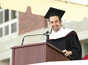 Miranda delivered the commencement address at his alma mater, Wesleyan University.