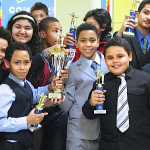 The debate team of P.S. 161.