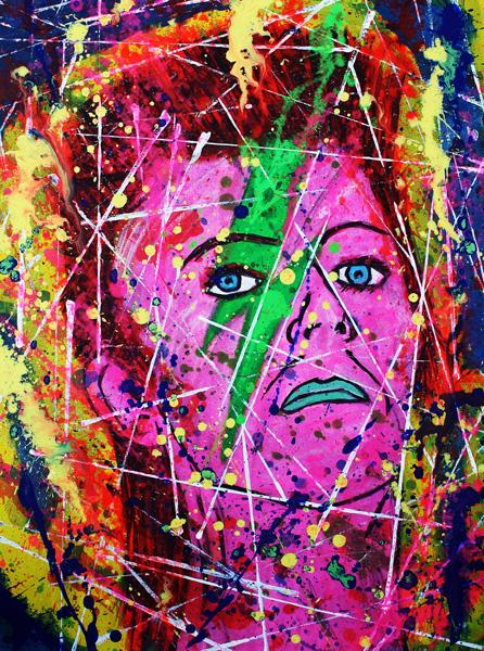 David Bowie as Ziggy Stardust, 2009 by FdlM