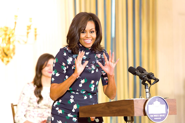 First Lady Michelle Obama officially welcomed guests to the White House.