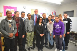 The mayor met with NMIC youth program participants.