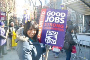 Union members are seeking amendments to the Displaced Building Service Workers Act.