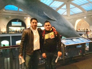 Kevin (right) and his uncle enjoyed the visit.