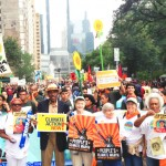 At the People's Climate March in 2014.