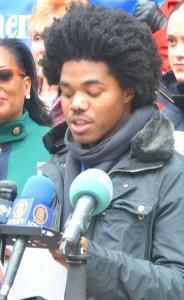 Youth Poet Laureate Nkosi Nkululeko urged students to register.