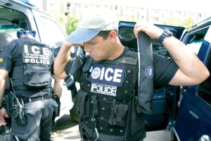 Special agents prepare for an enforcement action. Photo: ICE