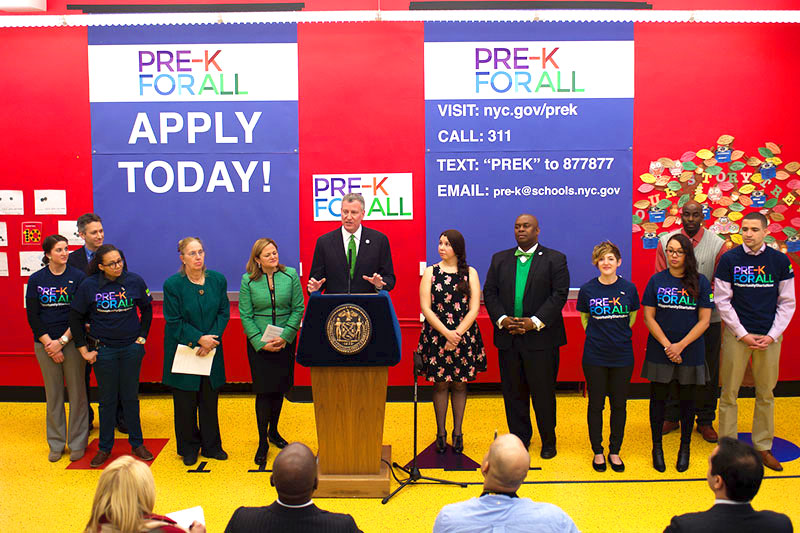 The program is a signature initiative of the de Blasio administration.