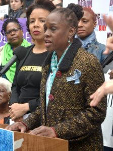 """""""We wear denim for every woman,"""" said New York City First Lady Chirlane McCray."""