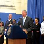 """We know that prevention works,"" said Mayor Bill de de Blasio."