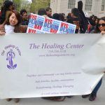 """""""We pride ourselves in raising awareness,"""" said Community Liaison Stephanie Rodríguez (right) with Sandra Torres."""