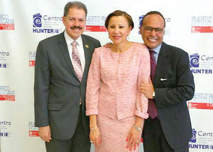 The members of Congress (from left): José Serrano, Nydia Velázquez, and Luis Gutiérrez.
