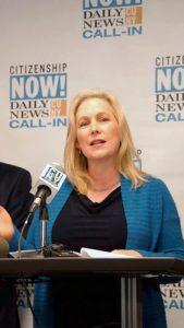 Sen. Kirsten Gillibrand lends her support.