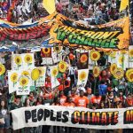 The group at the People's Climate March in 2015.