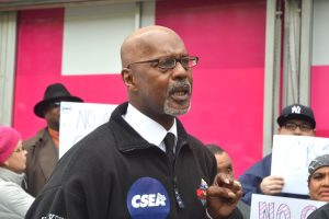 """""""This is a matter of justice and respect,"""" said CSEA Regional President Lester Crockett."""