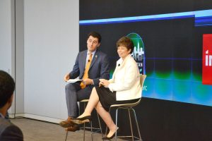 """What we're experiencing is unprecedented,"" said White House Senior Advisor Valerie Jarrett (right), here with Board Chairman Ken Biberaj."