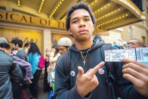 He's got the ticket.