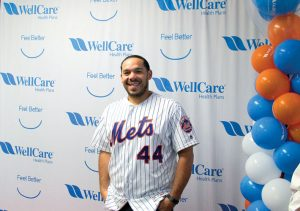 New York Mets catcher René Rivera.