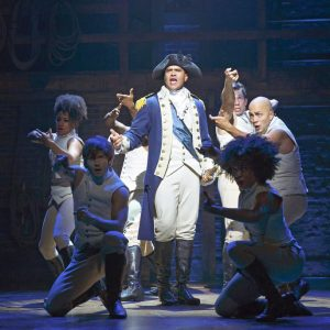Actor Christopher Jackson (center), who plays George Washington, was nominated.